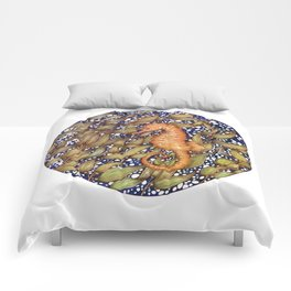 Seahorse in the Kelp Forest | Color Comforters