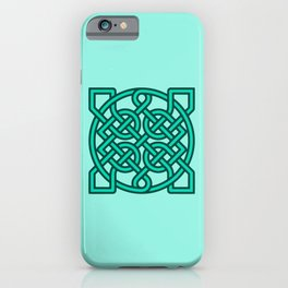 Celtic Sailor's Knot, Turquoise, Aqua and Teal iPhone Case