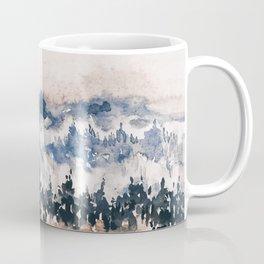 Watercolor Pine Trees Coffee Mug