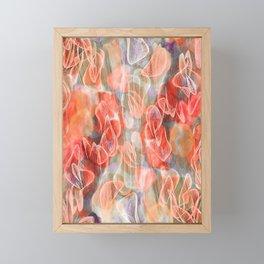Falling Petals Abstract Floral Framed Mini Art Print