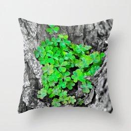 Clover Cluster Throw Pillow
