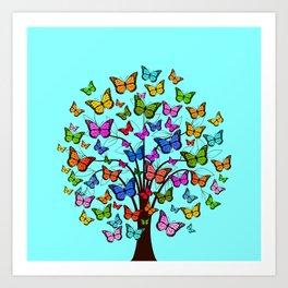 Butterflyes XGX Art Print