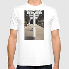 train station Mens Fitted Tee White MEDIUM