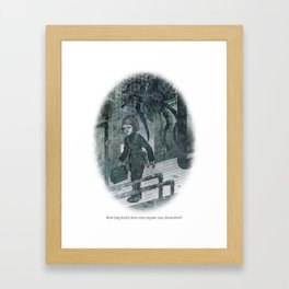 BEHIND YOU 11 Framed Art Print