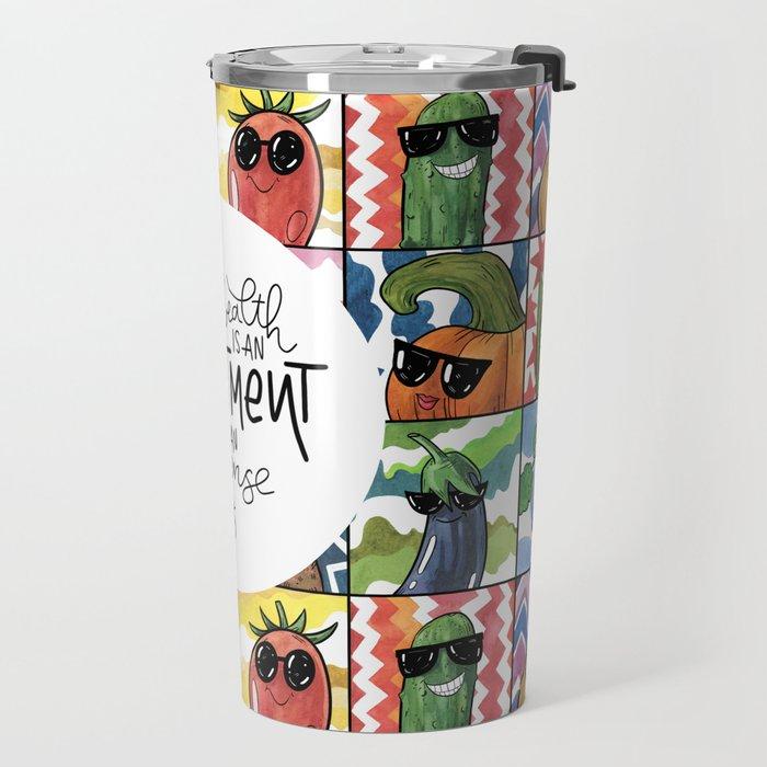 Health Poster Travel Mug