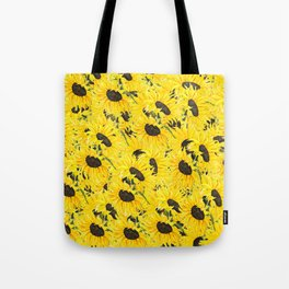 sunflower pattern 2018 1 Tote Bag