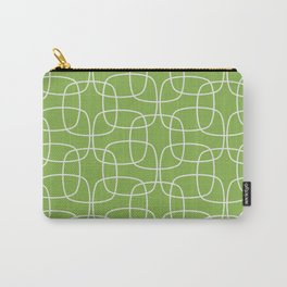 Square Pattern Greenery Carry-All Pouch