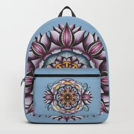 Purple Lotus Mandala Backpack