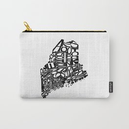 Typographic Maine Carry-All Pouch