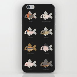 Corydoras! - black iPhone Skin