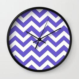 Slate blue - blue color - Zigzag Chevron Pattern Wall Clock
