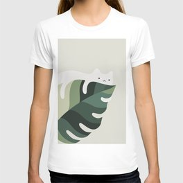 Cat and Plant 12C T-shirt