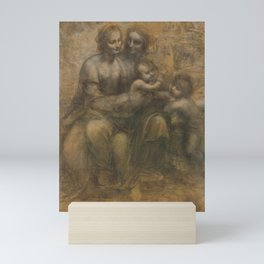 The Cartoon of St. Anne - by Leonardo Da Vinci Mini Art Print