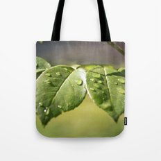 Fresh Dew Drops Tote Bag