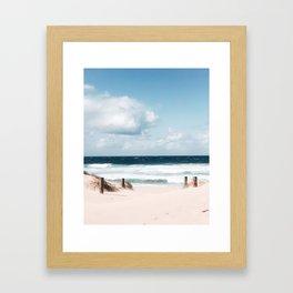 To the beach Framed Art Print