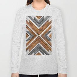 Urban Tribal Pattern 4 - Wood Long Sleeve T-shirt