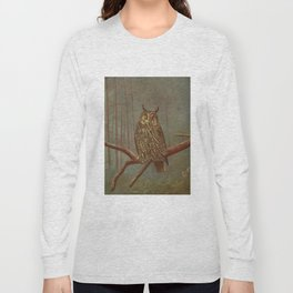 Vintage Illustration of an Owl (1902) Long Sleeve T-shirt