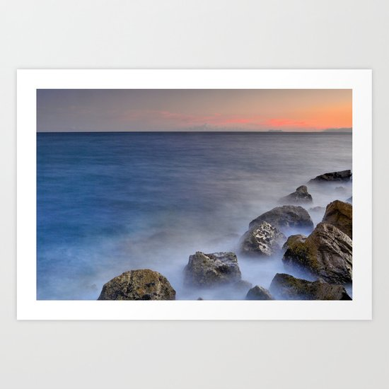 """""""The struggle of the sea"""" Art Print"""