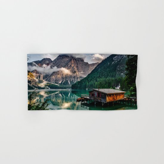 Italy mountains lake Hand & Bath Towel