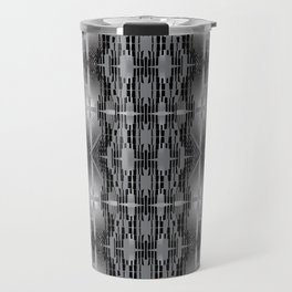 Urban abstract seamless techno-pattern with calligraphic elements Travel Mug