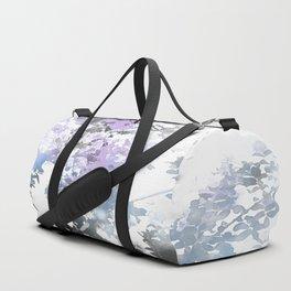 Watercolor Floral Lavender Teal Gray Duffle Bag