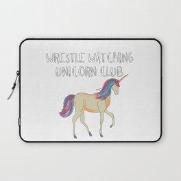 Wrestle Watching Unicorn Club Laptop Sleeve