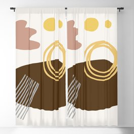 Desert Swimming Abstract Blackout Curtain