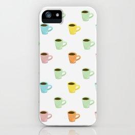 Coffee Pattern iPhone Case