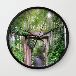 Bamboo Grove Wall Clock