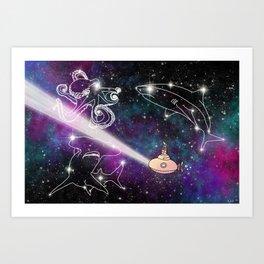 Exploring The Star Fish Constellations Art Print