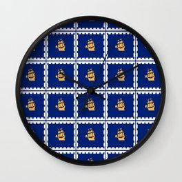flag of quebec city – laurent, vieille capitale,quebeques,quebecker,beauport,limoilou. Wall Clock