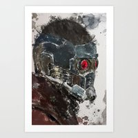 star lord Art Prints featuring Star Lord by Scofield Designs