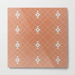 Royal Tiles (Tan) Metal Print