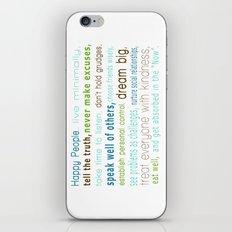 Happy People iPhone & iPod Skin