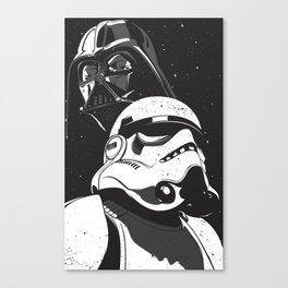 Darth and Storm Canvas Print