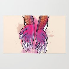 Dirty hands Rug