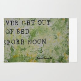 Charles Bukowski Never Get Out Of Bed Color Type Rug