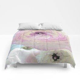 WHITE RANUNCULUS FLOWER Comforters