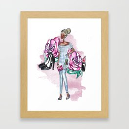 Flowers and Fashion Framed Art Print