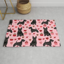 Scottie scottish terrier valentines day dog love pet portrait cute puppy dog valentine Rug