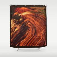 cock Shower Curtains featuring Cock Chinese Horoscope by Fernando Vieira