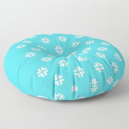 Scandinavian / Robin's Egg Blue + White Floor Pillow
