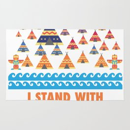 I Stand With Standing Rock Rug