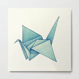 High Hopes | Origami Crane Metal Print