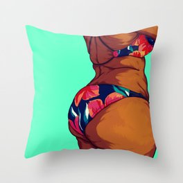 Beach Body Throw Pillow