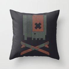 The Nes Skull Throw Pillow