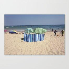 Twin Umbrella's and the Sun! Canvas Print