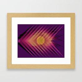 Sun Arrows print Framed Art Print