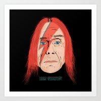 iggy Art Prints featuring Iggy Stardust by Chris Piascik