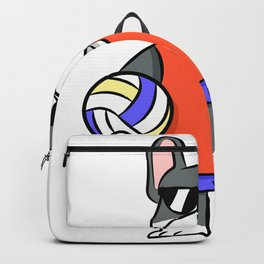 German boxer dog volleyball sports gift Backpack